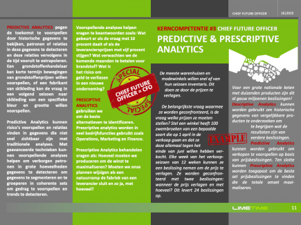 * CHIEF FUTURE OFFICER SPECIAL * Kerncompetentie 3: Predictive & prescriptive analytics.
