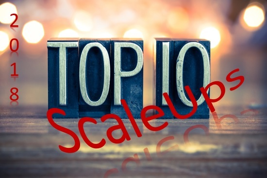 De TOP 10 ScaleUps uit de Top 250 van ScaleUps 2018